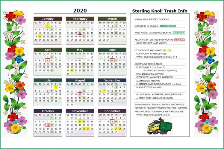 Sterling Knoll trash and recycling 2020